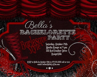 Burlesque Invitation Etsy