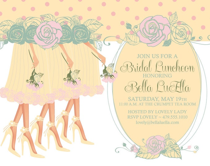 Bridal Luncheon Invitation, Bridal Showers, Shower Invitations