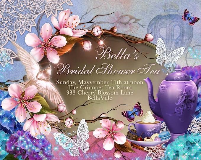 Cherryblossom Tea Party, Tea Party, Garden Tea Party, Party Invitations, Bridal Shower Tea