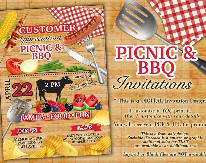 Picnic BBQ Summer Party Invitation