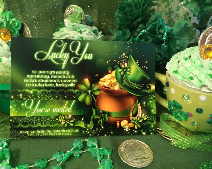 St. Patricks Day Party Invitations, St. Patty's Day Invites, Saint Patricks Day