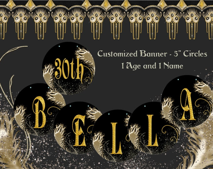 Roaring 20s Party, Custom Birthday Banner