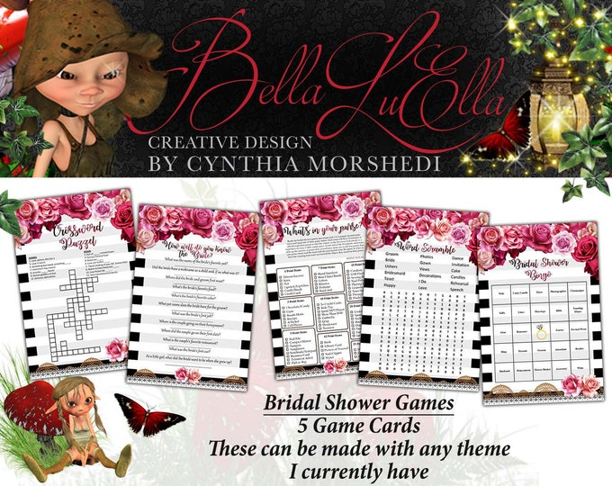 Custom Bridal Games, Bridal Shower Games