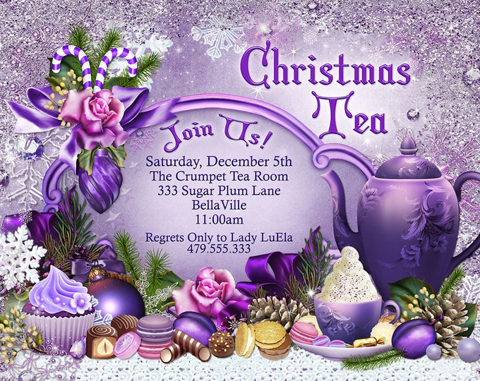 Sugar Plum Christmas Holiday Tea Party