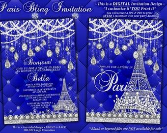 Silver Paris Invite Etsy
