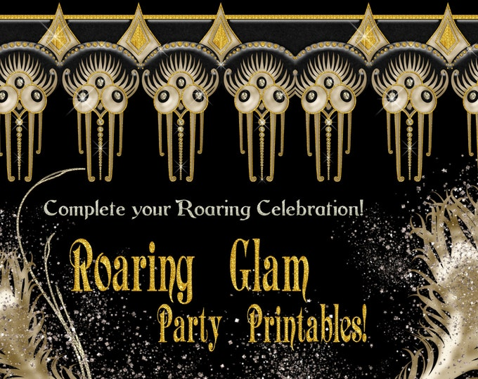 Roaring 20's Glam Party Printable Package