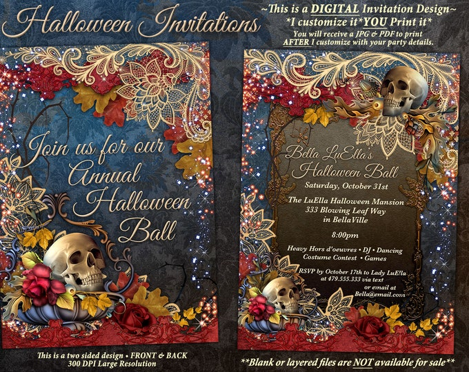 Halloween Invitations Halloween Party Invitations