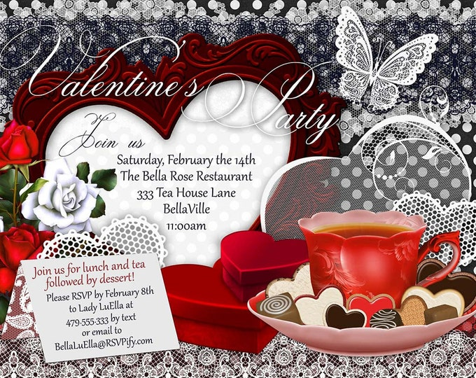 Valentine Party Invitations, Valentines Day Party, Party Invitations