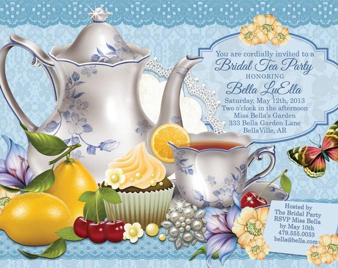 Tea Parties, Bridal Tea Party Invitation, Tea Party Invitations, Garden Tea Party, Party Invitations