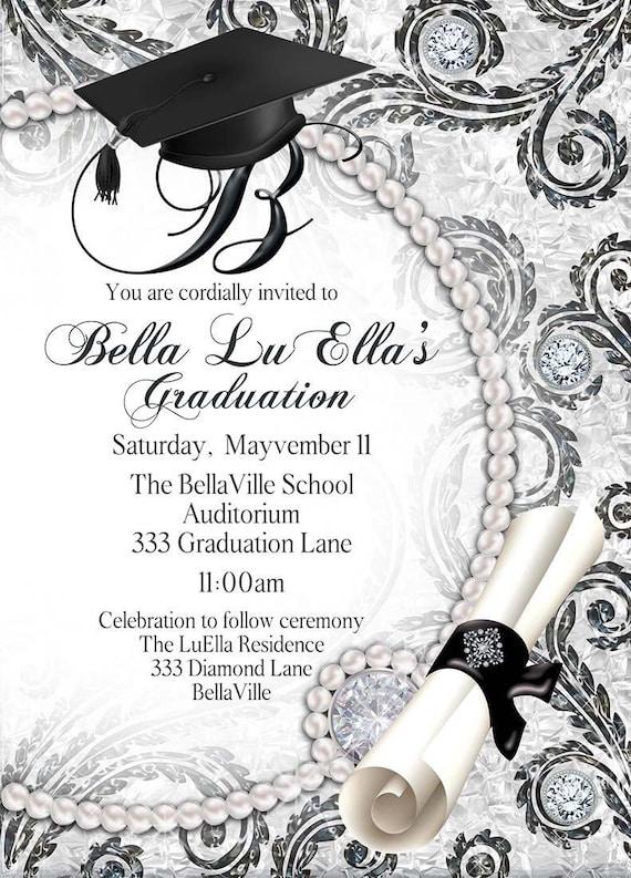 Elegant Graduation Invitations Grad Invites