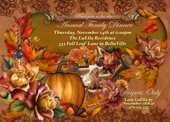 photo thanksgiving dinner invitation thanksgiving party etsy