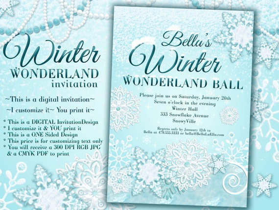 winter wonderland party winter invitation winter party etsy
