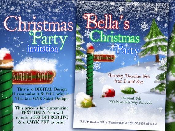 christmas invitation christmas party invitations holiday etsy