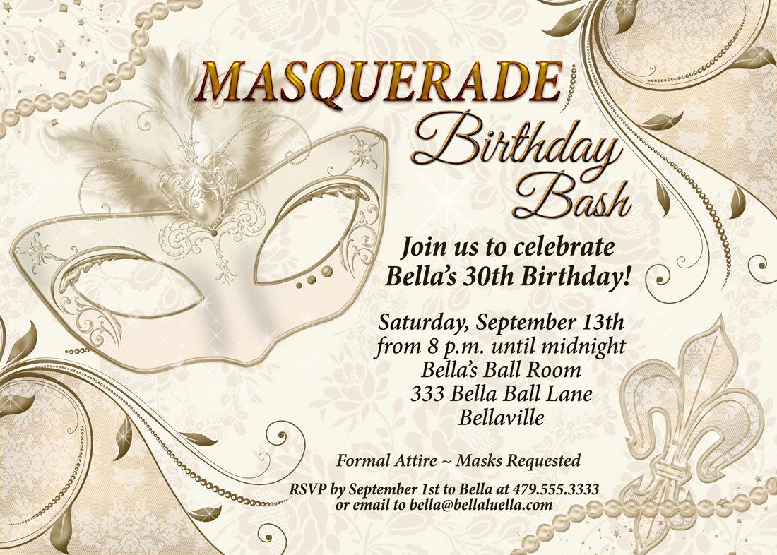 Masquerade Party Invitation Mardi Gras Party Party | Etsy