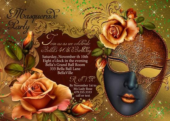 mardi gras party masquerade party mask party invitations etsy