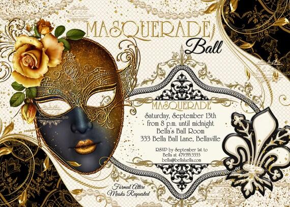 masquerade party invitation masquerade party mardi gras etsy