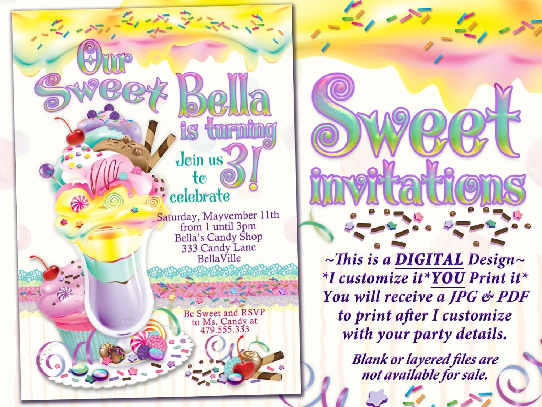 Ice Cream Cake Birthday Party Invitation Birthday Party | Etsy