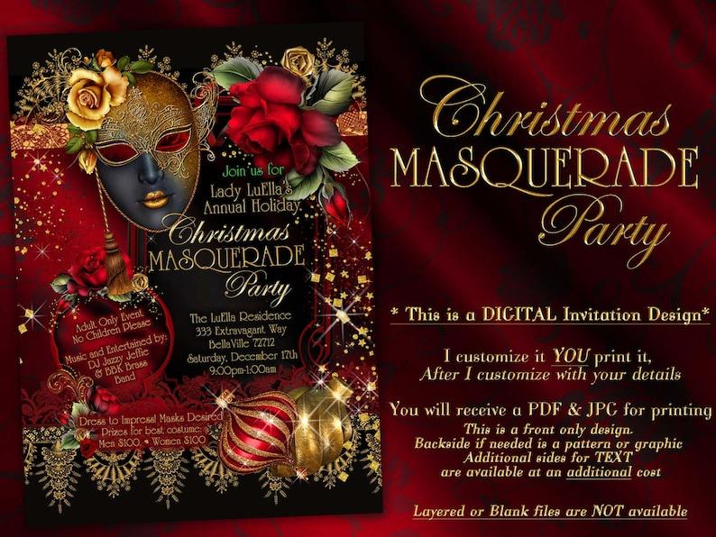 29277bcc2e3f Holiday Masquerade Christmas Masquerade Masquerade Party   Etsy