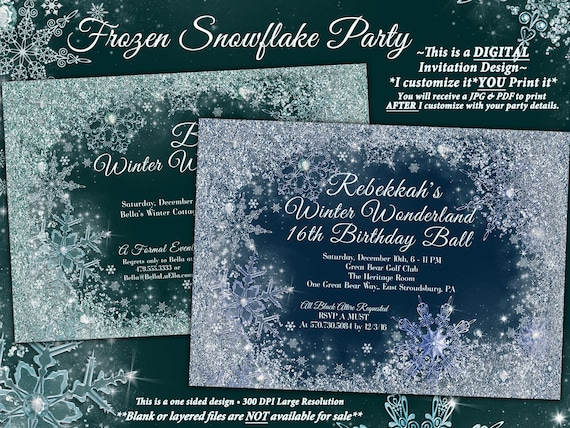 frozen winter wonderland party winter snowflake ball etsy