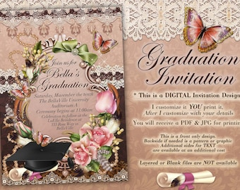 Elegant Graduation Invitations, Grad Invites, Graduation Ceremony