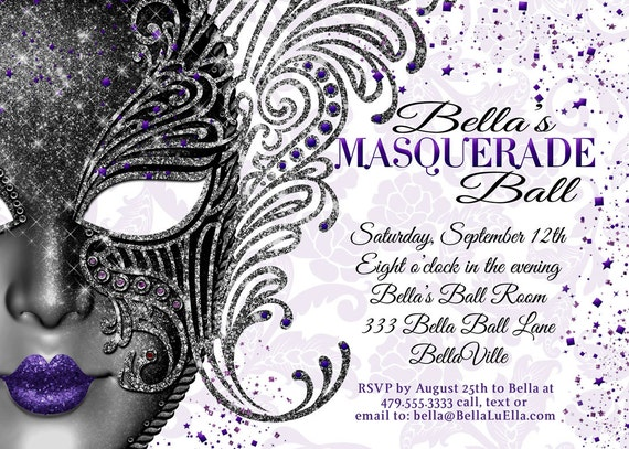 Quinceanera Masquerade Party, Sweet 16 Birthday Masquerade Invitation, Mardi Gras Party, Masquerade Ball Party, Mis Quince Anos, Mask Party