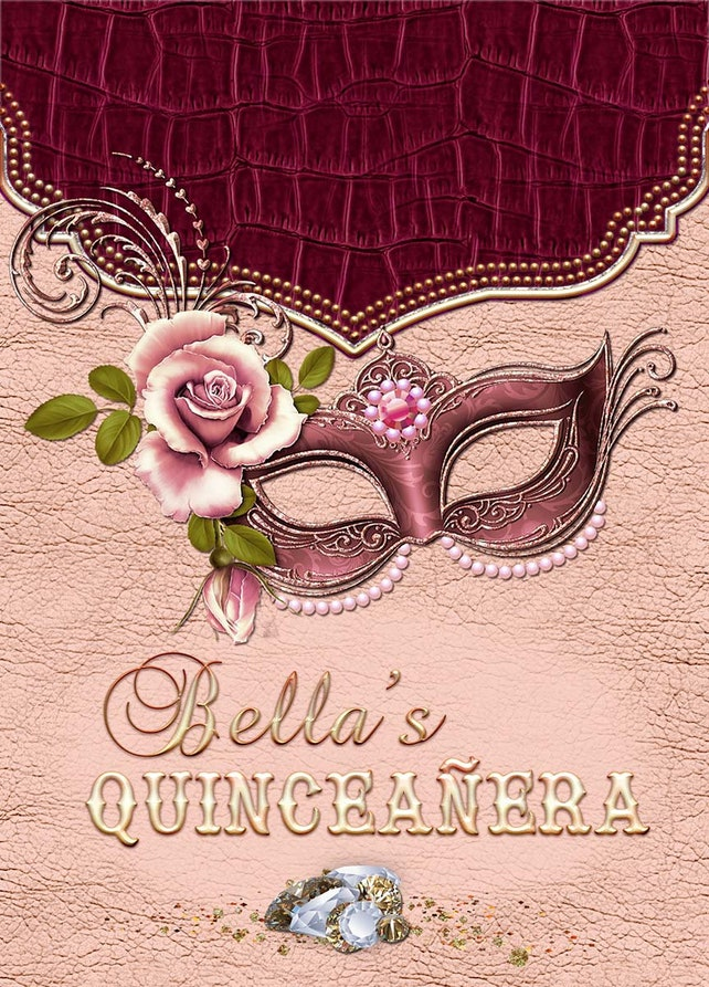 Rose Gold Masquerade Party Invitation Sweet 16