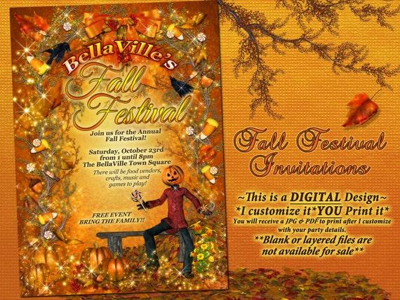 autumn birthday invitation fall party invitation fall etsy