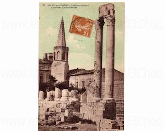Vintage French Postcard - Arles-sur-Rhone, Bouches-du-Rhône, France