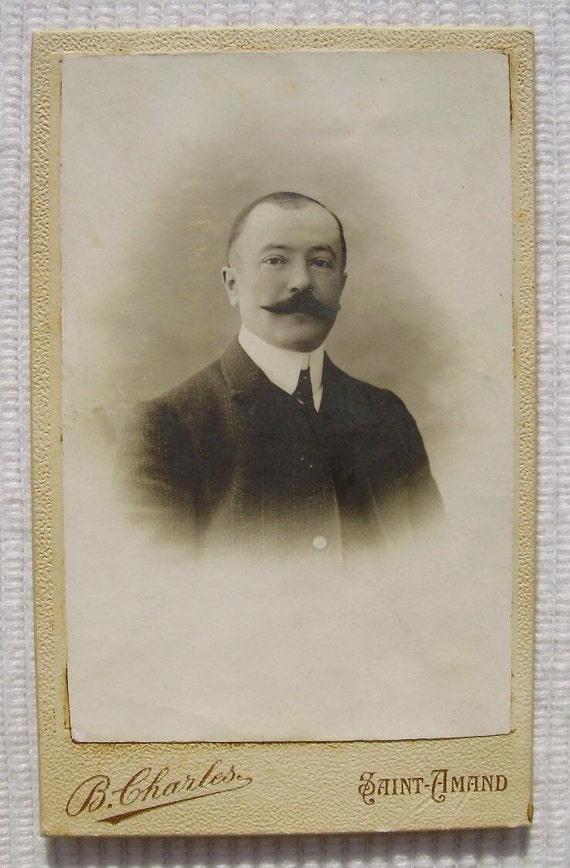 Antique French Photo Carte De Visite CDV Man With