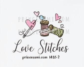 spool logo, sewing logo, sew logo, tailor logo, seamstress logo, clothing logo,    1485-2