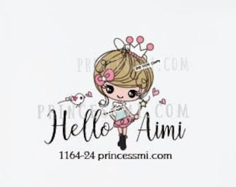 cute doll logo, princess girl logo, princess business logo, kawaii logo, craft logo,  1164-24