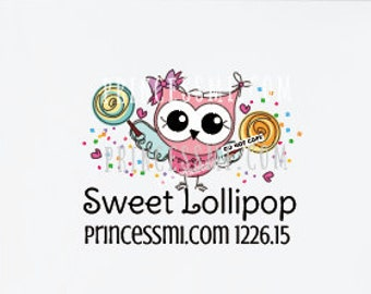 owl logo design,  whimsical owl logo,  lollipop logo, kid boutique logo, kids business logo ,  1226-15