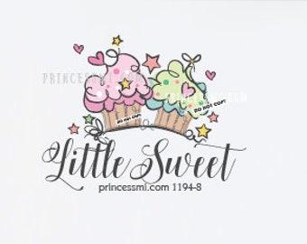 cute cupcake logo, dessert logo, bakery logo,  bake logo,  1194-8