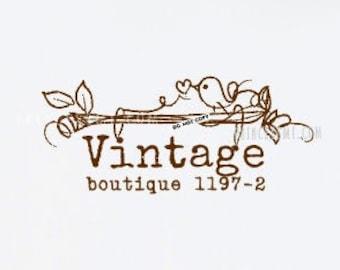 vintage bird logo, photography logo, whimsical bird logo, craft business logo,   1197-2