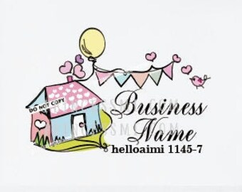 little house logo, school logo , kids care logo , kid business logo, party event logo, 1145-7