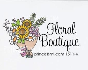 women business logo, craft logo, flower logo, bouquet logo design, florist logo,   1511-4