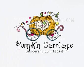 Pumpkin Carriage logo, kids business logo, kids boutique logo, princess brand logo   1257-8