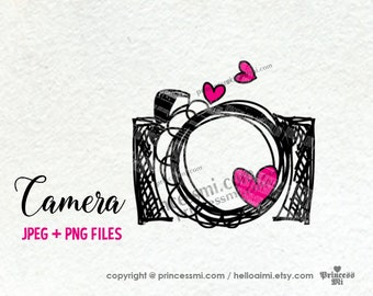 Sale 15 Camera Clipart Photography Photographer Hand Drawn