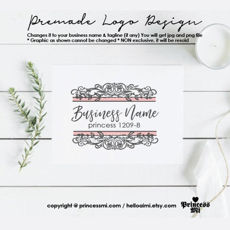 logo design premade boutique logo photography logo elegant image 0