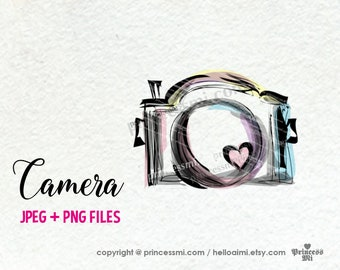 camera clipart, photography photographer artwork, PNG file by princessmi SALE 15