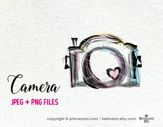 Sale 15 Camera Clipart Photography Photographer Hand Drawn Design Business Artwork Cute Creative Whimsical 1 Png File By Princessmi