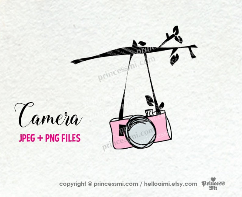 SALE 7  hand drawn camera clipart photography photographer image 0