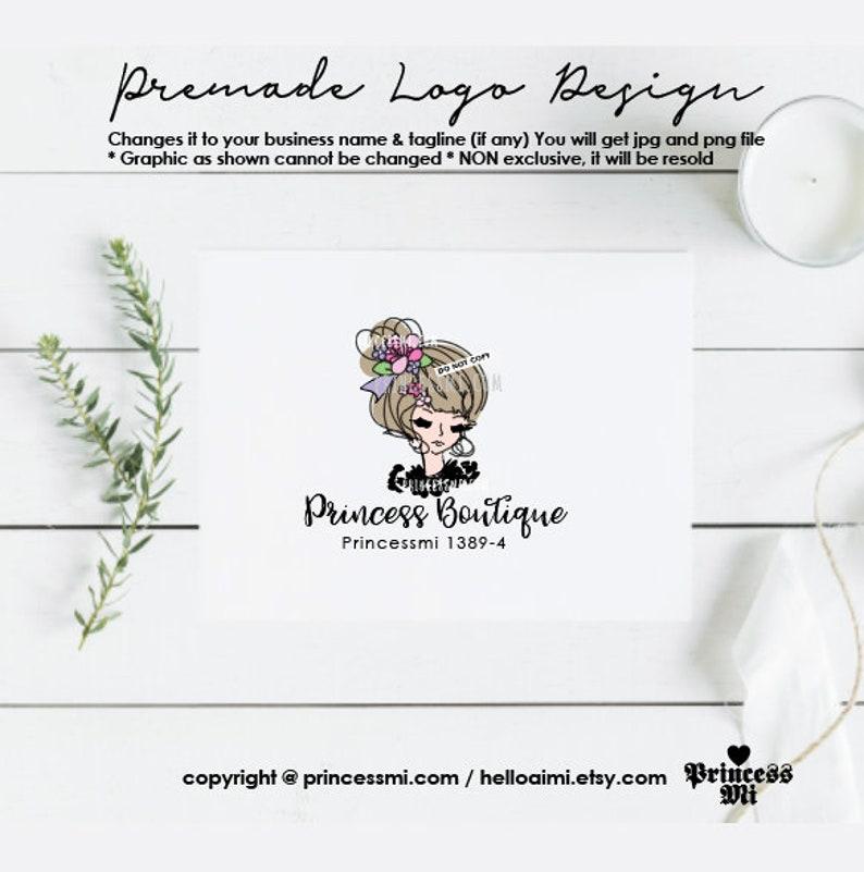 lady logo design girl beauty spa makeup artist logo boutique image 0