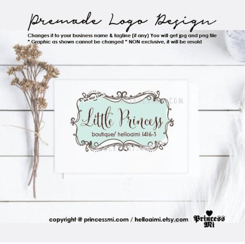 logo design boutique logo photography logo  hand drawn frame image 0