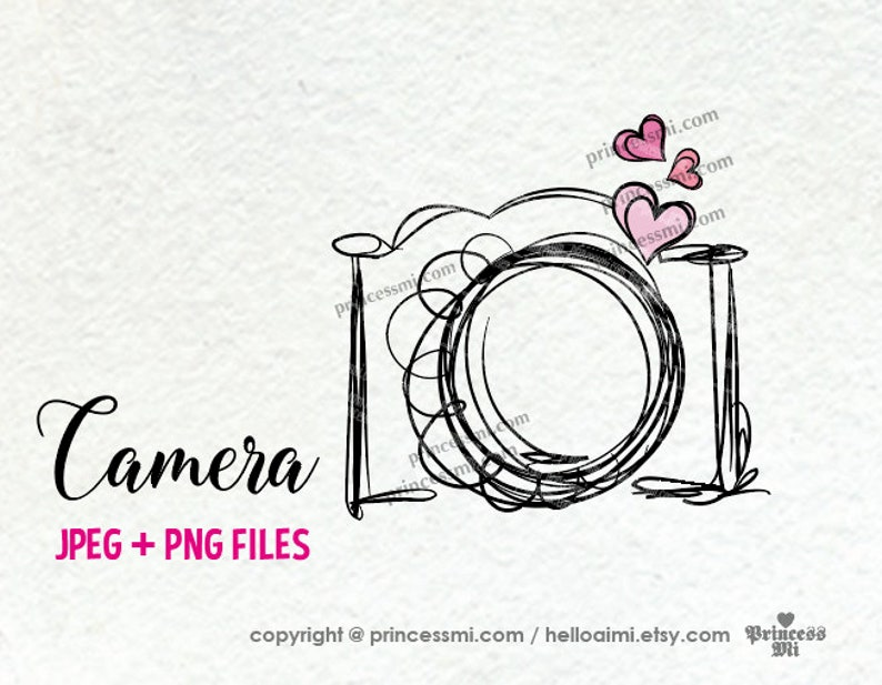 camera clipart three little hearts photography photographer image 0