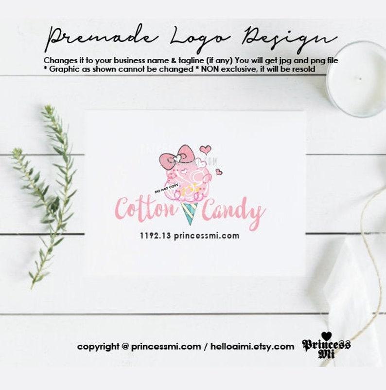 logo design cotton candy logo sweet logo kids business logo image 0