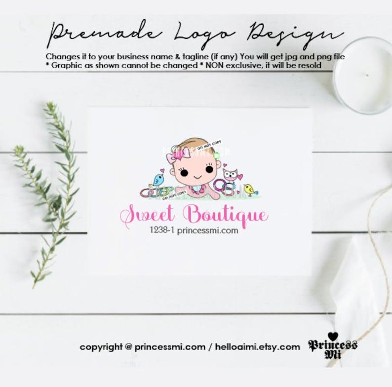 baby logo design newborn baby care logo template hand drawn image 0
