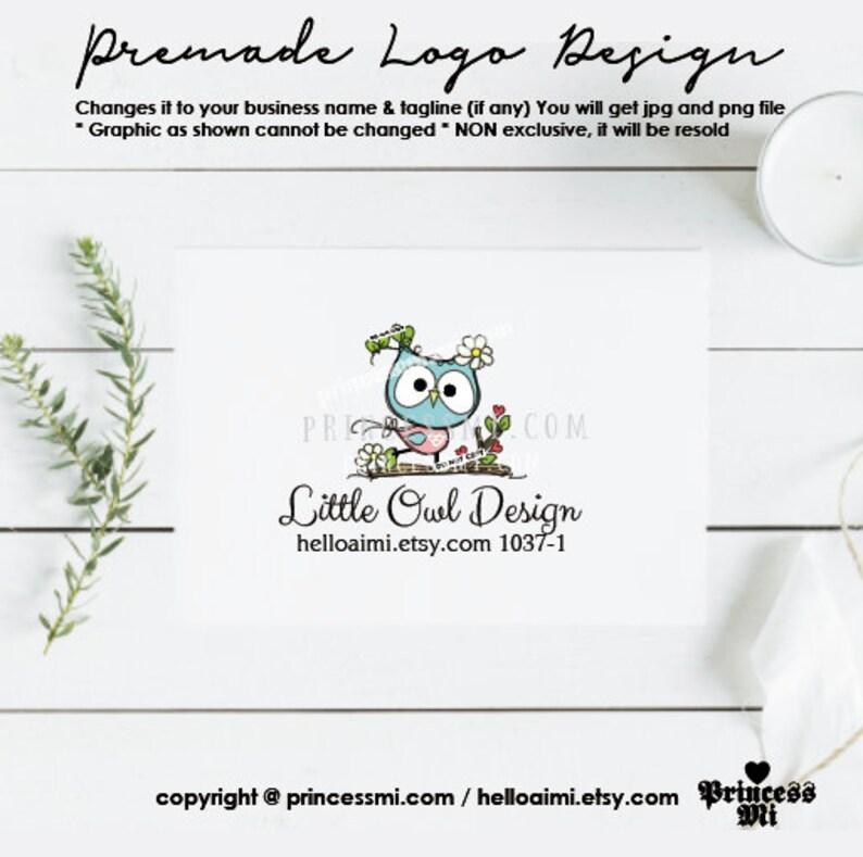 logo design owl logo owl tree branch hand drawn logo image 0