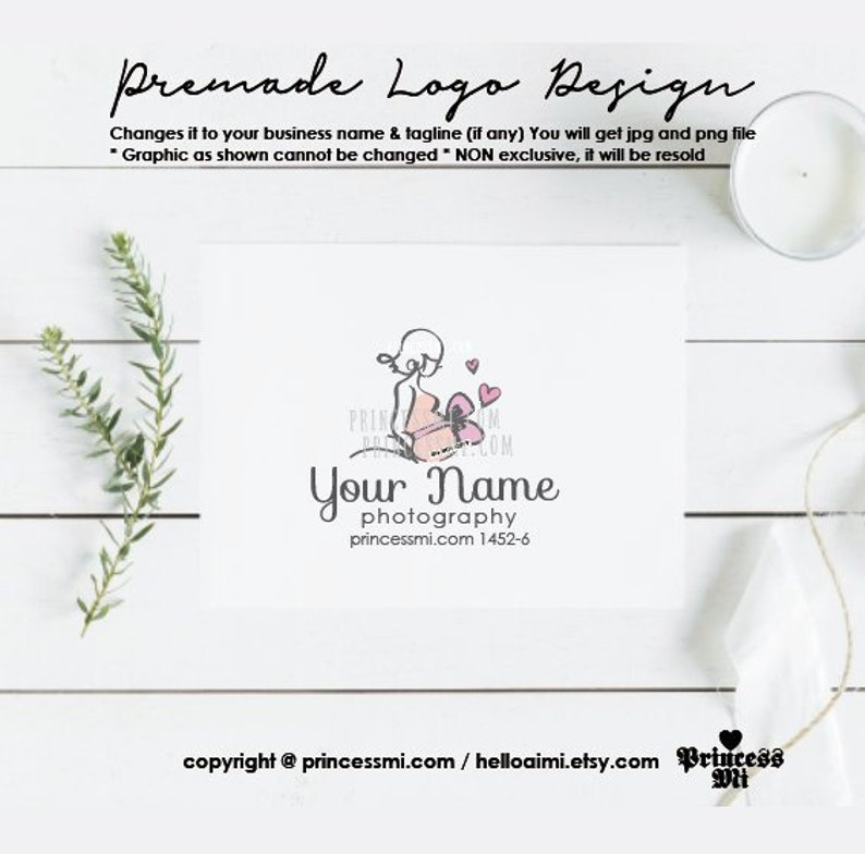 business logo design Pregnant Photography watermark 1452-6 image 0
