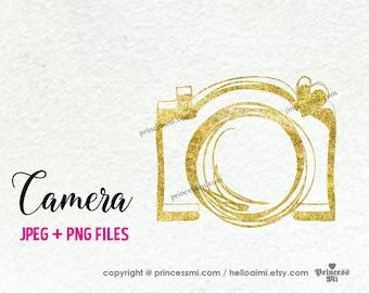 gold camera clipart elegant glitter camera photography photographer camera artwork cute creative whimsical png file by princessmi